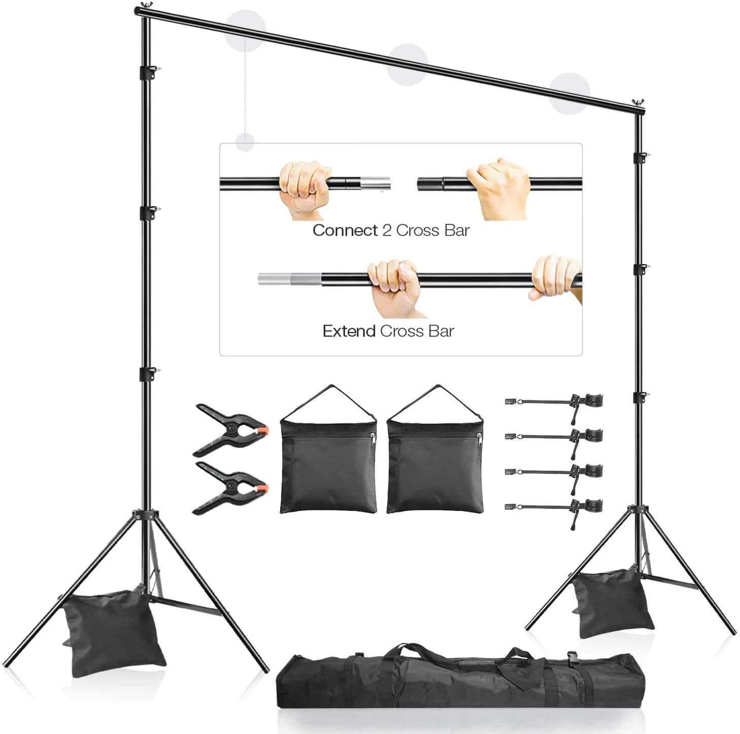 LimoStudio 10x7.3 ft. Backdrop Stand